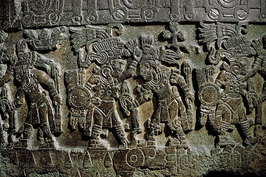Piedra de Tízoc (detalle) Mexica (Azteca) Postclásico tardío (1325-1521 D.C.)